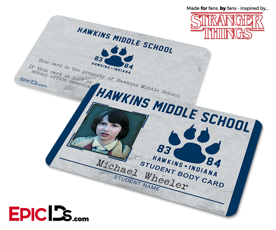 Hawkins Middle School 'Stranger Things' Student ID Card - Michael Wheeler