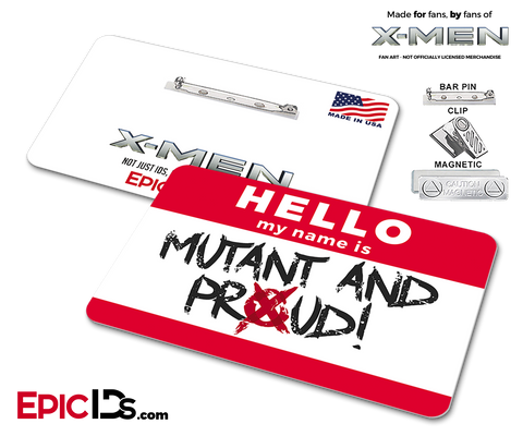Mutant And Proud 'X-Men' Cosplay Name Badge