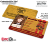 Hogwarts School 'Gryffindor' Harry Potter Inspired Student ID [Photo Personalized]