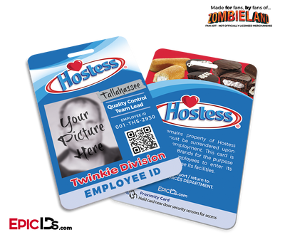 Hostess 'Tallahassee' Zombieland Cosplay Employee ID [Photo Personalized]