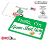 """Hello I'm Green Shirt Guy"" Cosplay Name Badge"