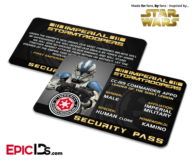 Star Wars Inspired - Imperial Stormtroopers (Clone) Security Pass
