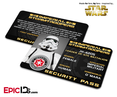 Star Wars Inspired - Imperial Stormtroopers Security Pass