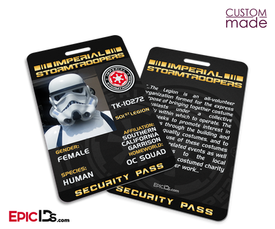 Custom Order [Jessie] - Imperial Stormtroopers Security Pass Card and Badge (Special 2-Pack)
