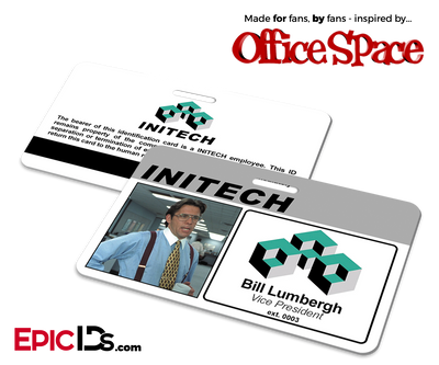 Office Space Inspired Initech Employee ID / Name Badge - Bill Lumbergh