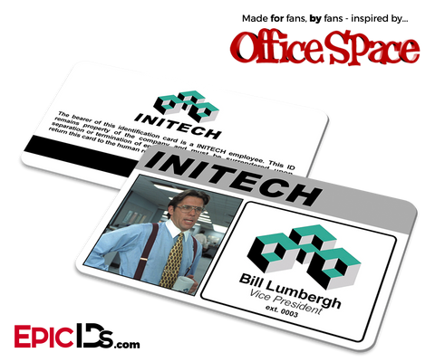 Office Space Inspired 'Bill Lumbergh' Initech Employee ID Card