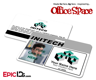 Office Space Inspired Initech Employee ID / Name Badge - [Photo Personalized]