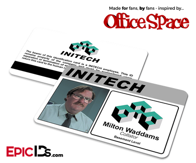 Office Space Inspired Initech Employee ID / Name Badge - Milton Waddams