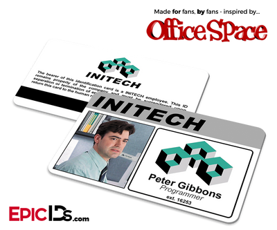 Office Space Inspired Initech Employee ID / Name Badge - Peter Gibbons
