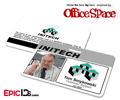 Office Space Inspired Initech Employee ID / Name Badge - Tom Smykowski