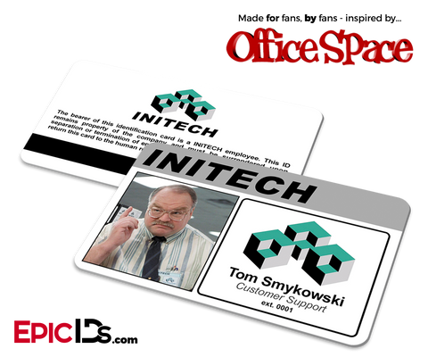 Office Space Inspired 'Tom Smykowski' Initech Employee ID Card