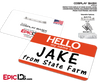 Jake From State Farm Cosplay ID Badge