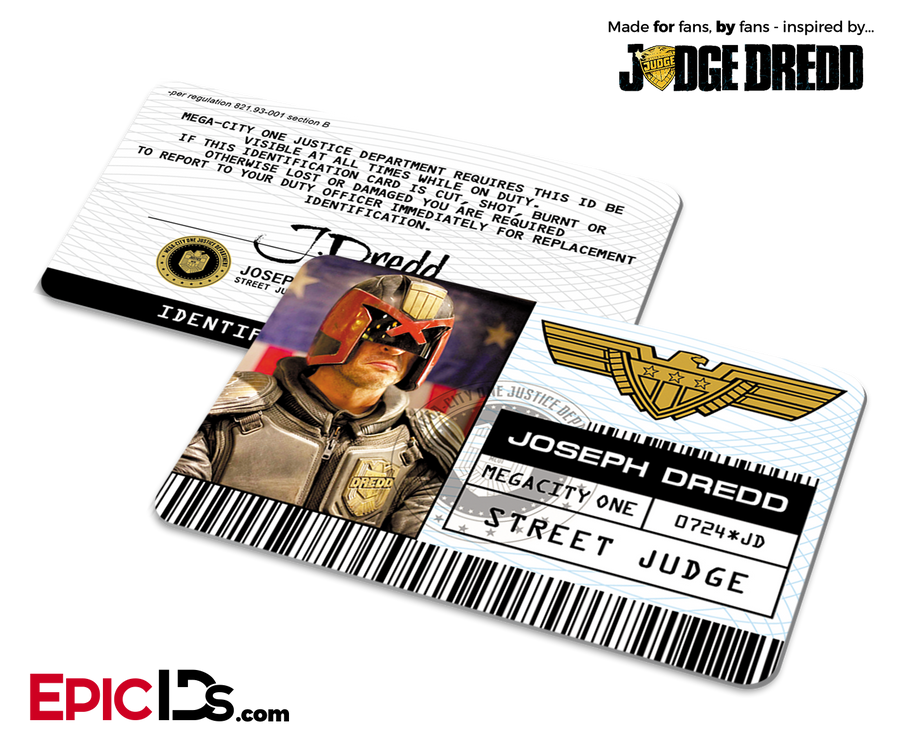 "Mega-City One Justice Department ""Dredd (2012)"" Street Judge ID - Joseph Dredd"