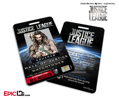 Hall of Justice | Watchtower 'Justice League' Access ID Card - Aquaman