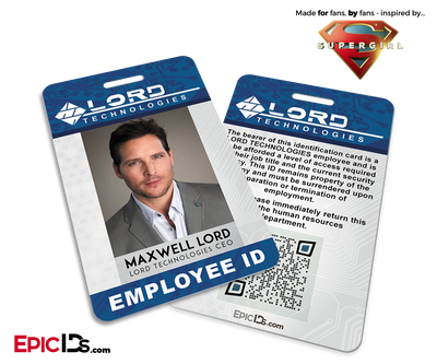 Supergirl TV Series Inspired LORD Industries Employee ID - Maxwell Lord