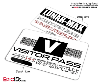 LUNAR-MAX Visitor Pass 'MIB - Men In Black' Replica Lily Poison Cosplay Badge ID