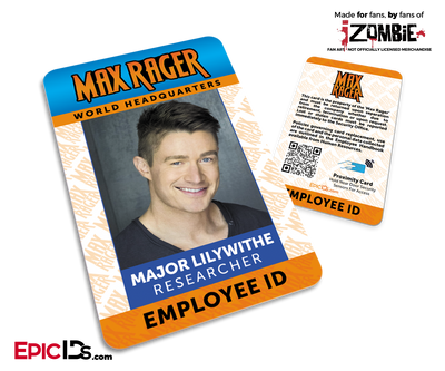 Max Rager 'iZombie' Cosplay Employee ID - Major Lilywithe