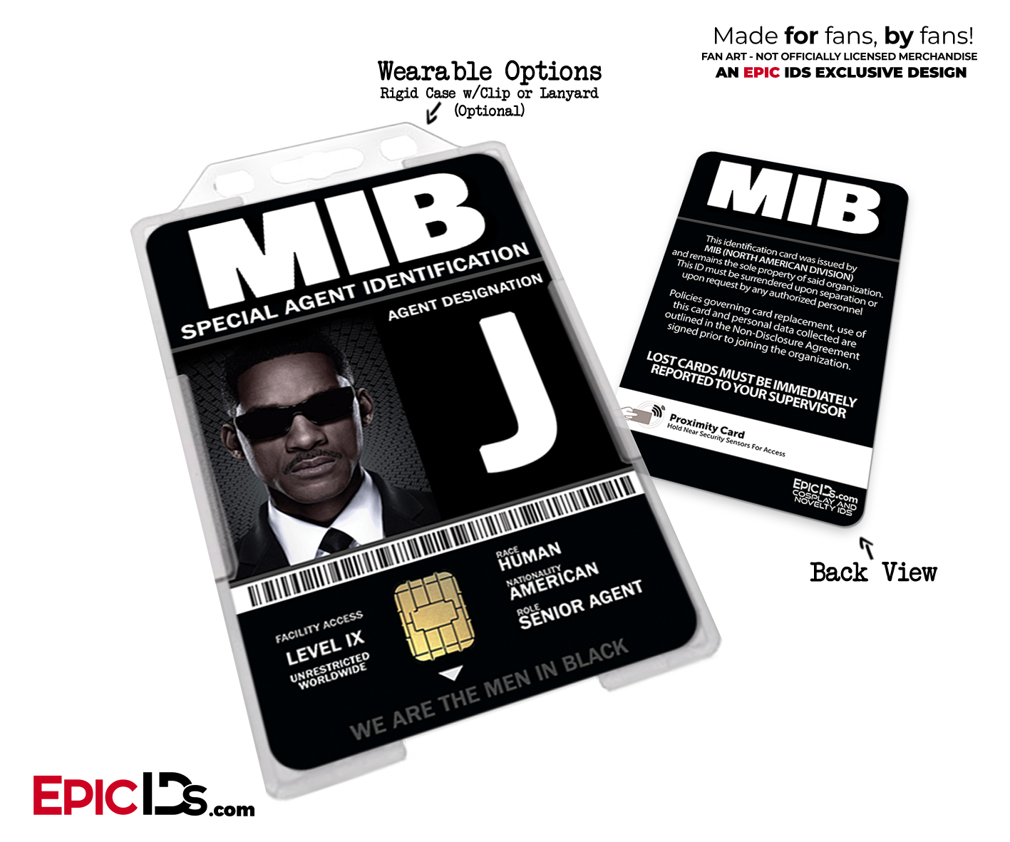 Special Agent Mib Men In Black Cosplay Name Badge Movie Characters