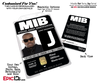 Special Agent 'MIB - Men In Black' Cosplay Name Badge [Custom / Photo Personalized]
