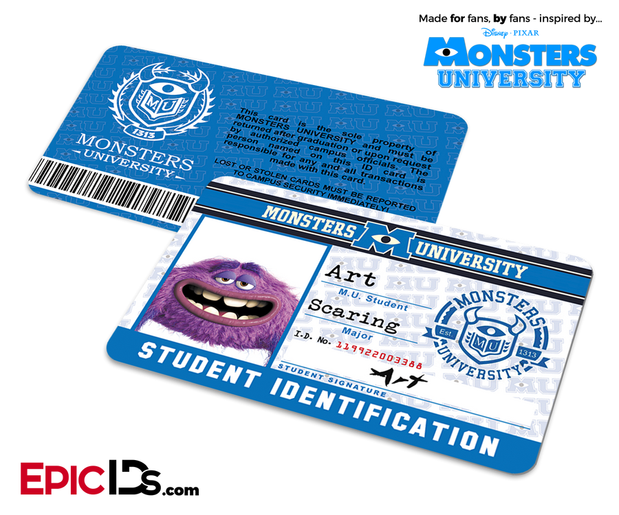 Monsters University Cosplay Student ID Card - Art
