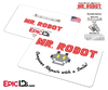 "Mr Robot ""Computer Repair With A Smile"" Wearable Cosplay Badge"