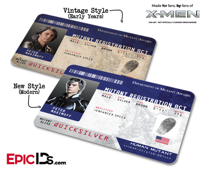 Mutant Registration Act 'X-Men' Identification Card - Peter Maximoff / Quicksilver