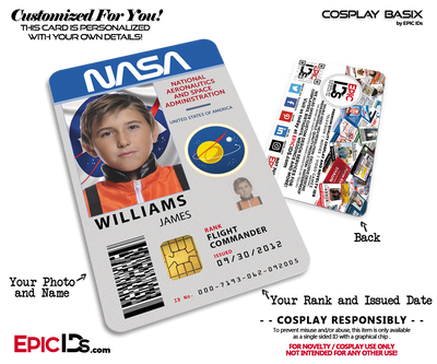 NASA Astronaut Themed Cosplay Access ID Badge