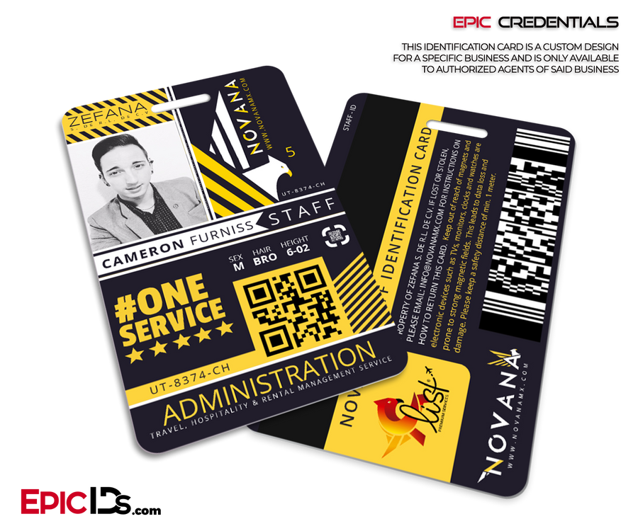 Custom Order [Epic Credentials - Furniss] Novana Employee ID Badge w/Notch