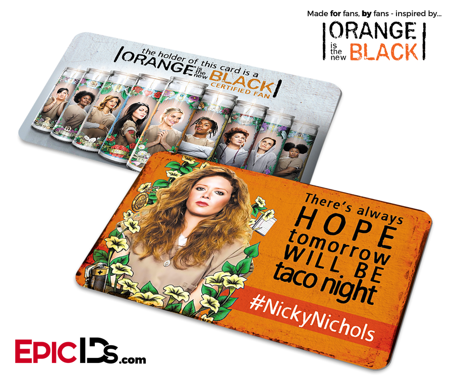 Orange is the New Black Inspired Fan Card - Nicky Nichols