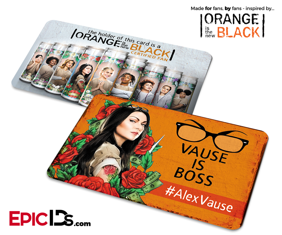 Orange is the New Black Inspired Fan Card - Alex Vause