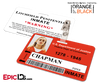 Litchfield Penitentiary 'OITNB' Inmate Wearable ID Badge - Chapman, Piper