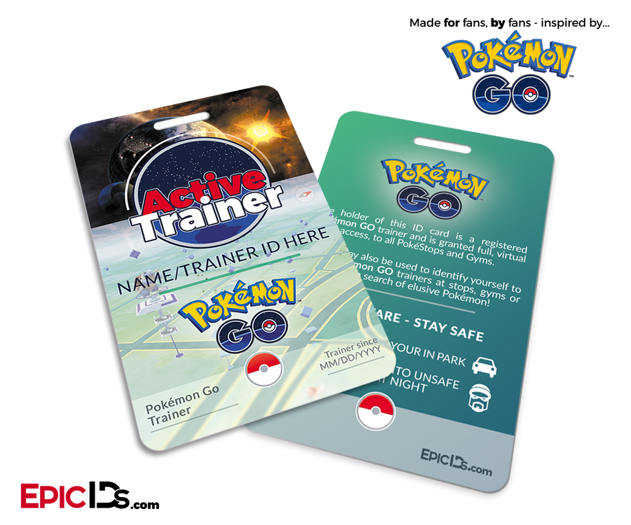 Pokemon GO Inspired Trainer ID Card [Personalized]