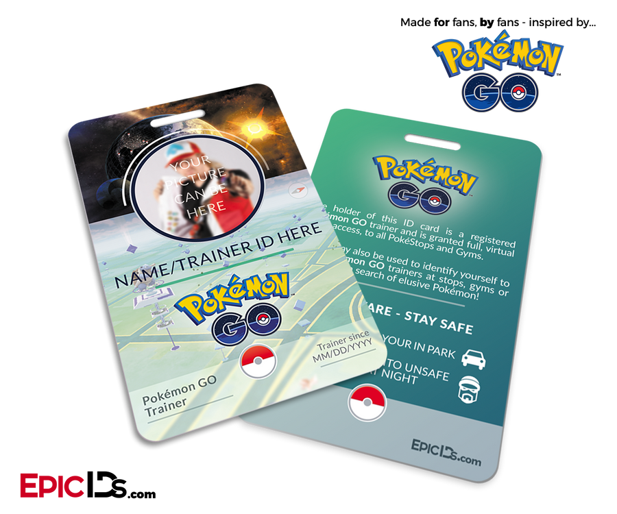Pokemon GO Inspired Trainer ID Card [Photo Personalized]