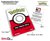 Pokemon Inspired Pokemon Player ID Badge [Personalized]