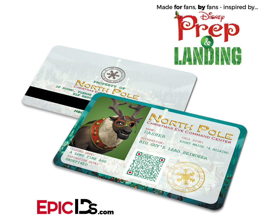 "Prep and Landing Inspired ""Dasher"" Sleigh Reindeer ID"