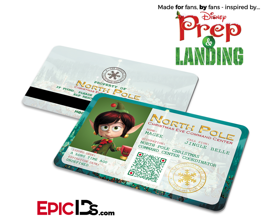 "Prep and Landing Inspired ""Magee"" Command Center Elf ID"