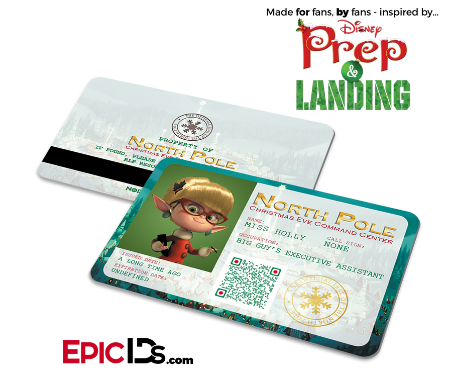 "Prep and Landing Inspired ""Miss Holly"" Command Center Elf ID"