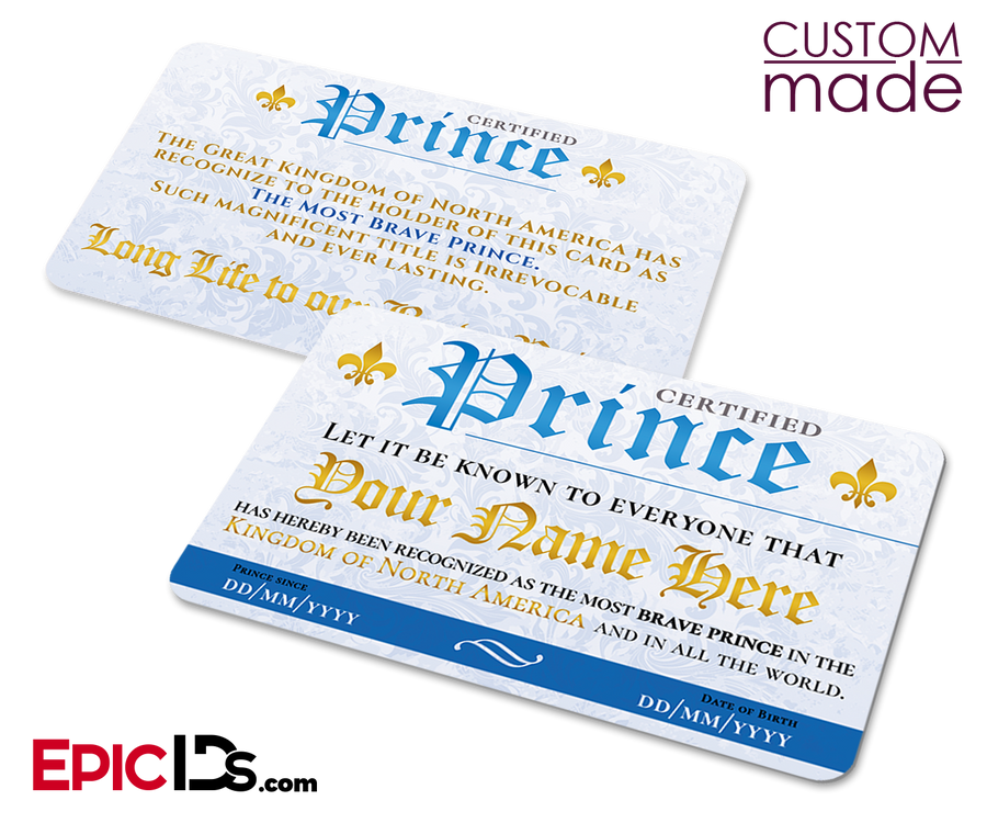 Certified Prince ID Card [Personalized]