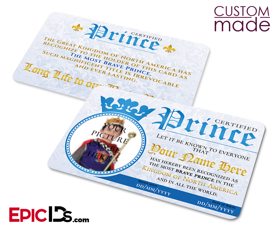 Certified Prince ID Card [Photo Personalized]