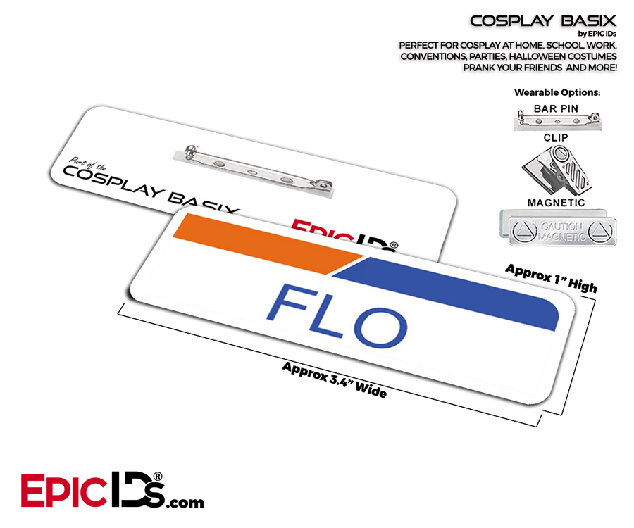 Flo From Progressive Insurance Cosplay ID Name Tag