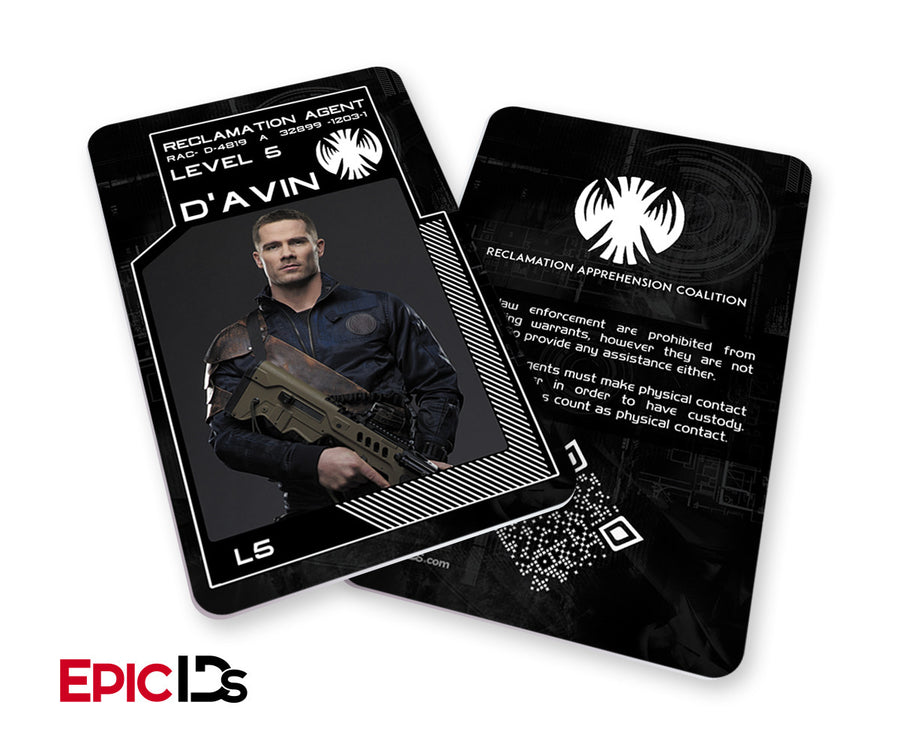 "KillJoys Inspired ""D'Avin"" Reclaimation Agent Identification Card"