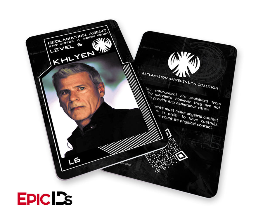 "KillJoys Inspired ""Khlyen"" Reclaimation Agent Identification Card"