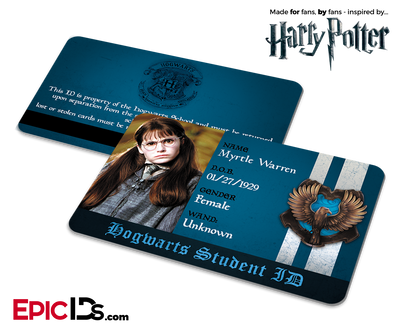 Harry Potter Inspired Hogwarts Student ID (Ravenclaw) - Myrtle Warren