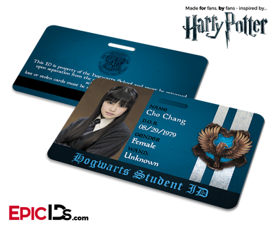 Harry Potter Inspired Hogwarts Student ID (Ravenclaw) - Cho Chang