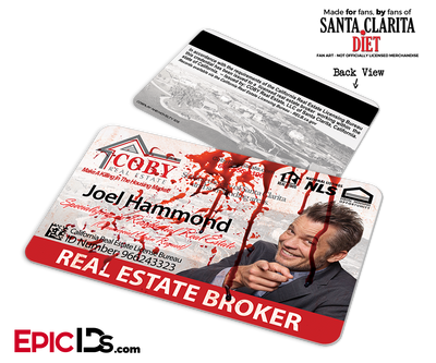 Coby Real Estate 'Santa Clarita Diet' Cosplay / Name Tag / Broker ID - Joel Hammond