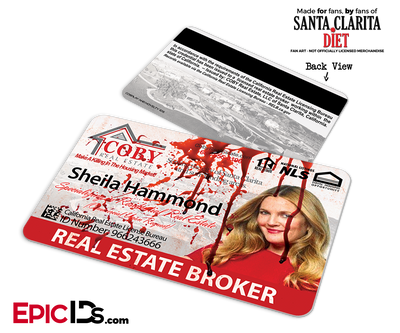 Coby Real Estate 'Santa Clarita Diet' Cosplay / Name Tag / Broker ID - Sheila Hammond