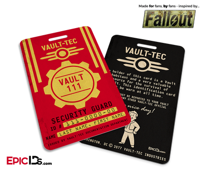 Vault Security Guard 'Fallout' Cosplay Vault ID Badge [Personalized]