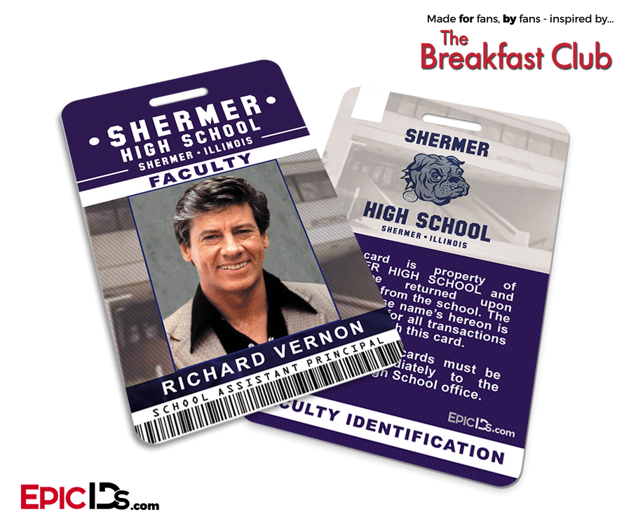 The Breakfast Club Inspired Shermer High School Faculty ID - Richard Venon