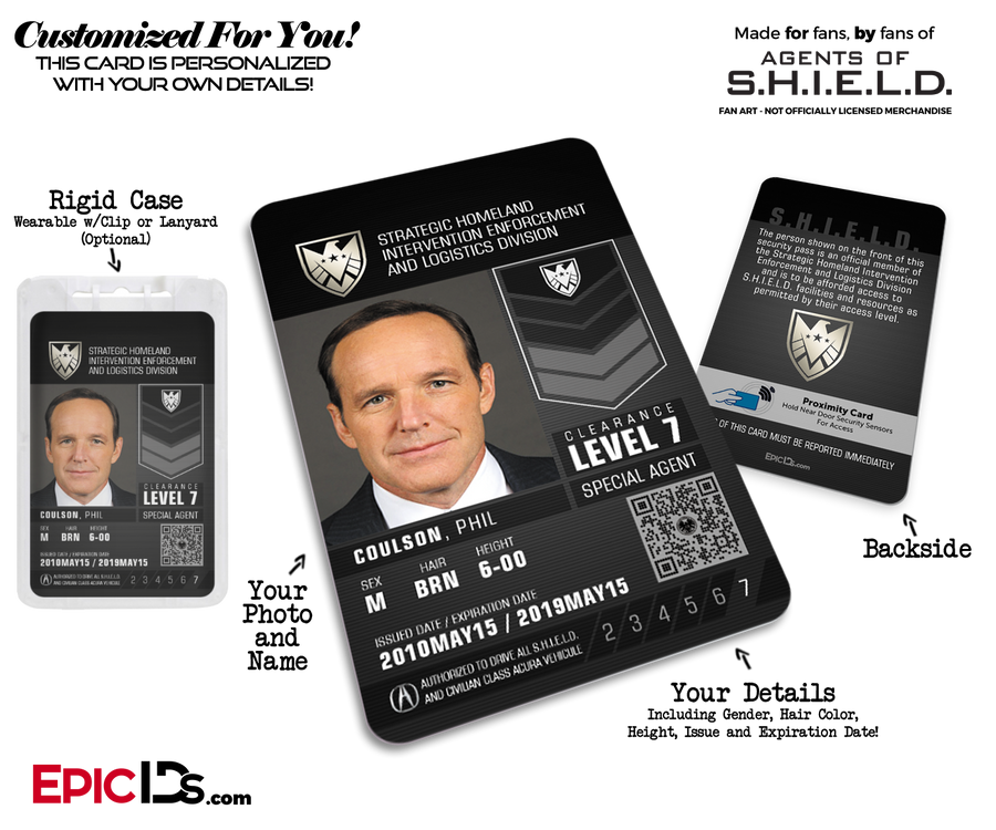 Agents of SHIELD Inspired 'Real' SHIELD Agent ID - [Photo Personalized]