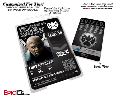 Agents of SHIELD Post Avengers Endgame Cosplay Agent ID Badge - [Movie / TV Characters]